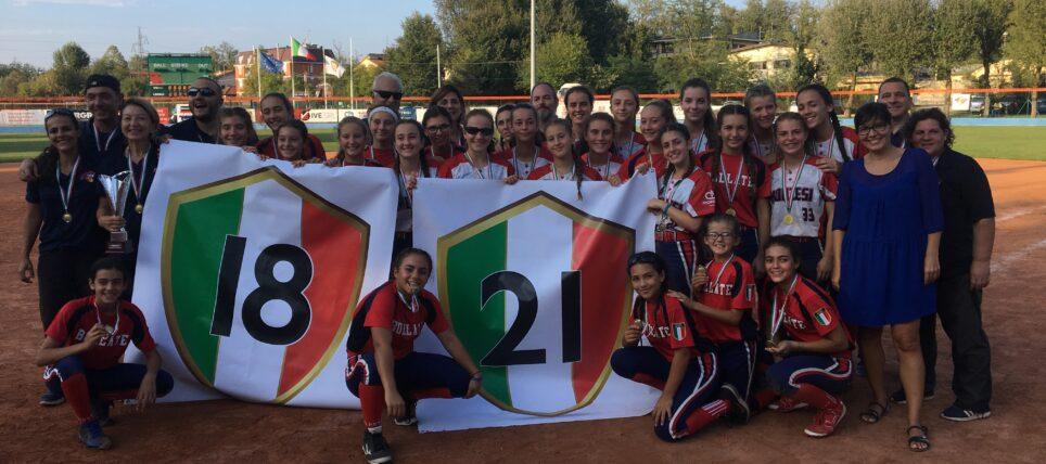 CAMPIONESSE D'ITALIA UNDER 13 e UNDER 16